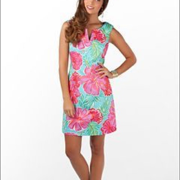 2961474068dbe Lilly Pulitzer Taytay Blue Hibiscus Bellina Dress